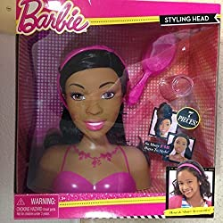African American Just Play Barbie Styling Head (Small)