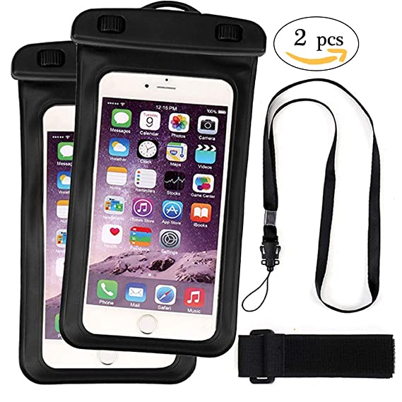 detailed look 40b9f ad1c9 Amazon.com: Homyu Waterproof Phone Pouch Universal Waterproof Phone ...