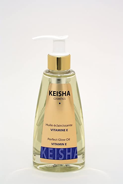 Keisha Cosmetics Aceite blanqueador para la piel con papaya y vitamina E, aporta un gran