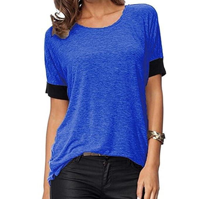 FAMILIZO Camisetas Mujer Verano Blusa Mujer Elegante Camisetas Mujer Manga Corta Algodón Camiseta Mujer Camisetas Mujer Fiesta Top De Chifón De Verano Para ...