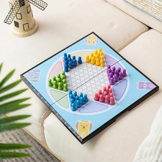 KEHUITONG Damas Chinas, Damas, Halma, Damas imán Tableros Plegables portátiles Puzzle Juegos de Mesa Fácil de Aprender (Size : 29*15*2cm) : Amazon.es: Juguetes y juegos