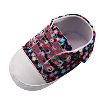 Newborn Baby Girls Sequin Shoes Soft Sole Prewalker Flower Sneakers 0-18M
