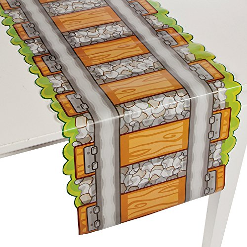 Fun Express Railroad Train Track Paper Party Tablecloth Table Runner ()