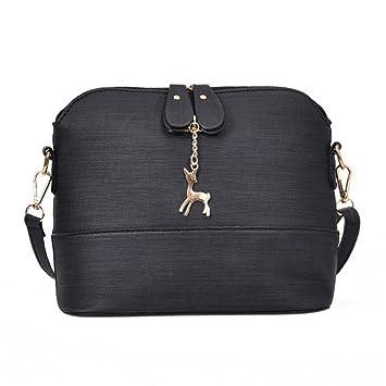 940853cca138 Women Vintage Handbag, Xinantime Small Shell Leather Handbag Casual Packet Messenger  Bags (Black