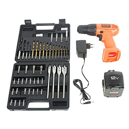 Black & Decker CD121K50 Cordless Drill/Driver with Keyless Chuck and 50 Accessories Kit