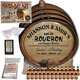 Personalized Whiskey Making Kit (062) – Create Your Own Kentucky Bourbon Whiskey – The Outlaw Kit from Skeeter's Reserve Outlaw Gear – MADE BY American Oak Barrel