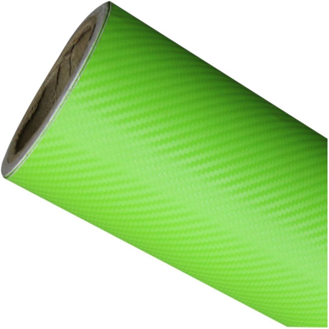 TOOGOO DIY 30 x 127 3D un Rouleau dautocollant en fiber de carbone Autocollant en Vinyle Film adhesif pour la Voiture rouge