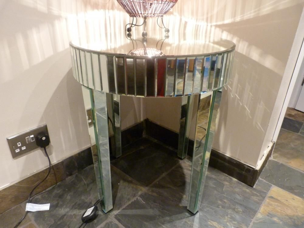 Venetian Mirrored/ Glass Coffee Table/ Side Table   (Sophie Rose Range):  Amazon.co.uk: Kitchen U0026 Home