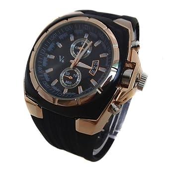 Relojes de Negocios para Hombres - Dxlta Correa de silicona especial, Reloj de pulsera de Cuarzo (3): Amazon.es: Relojes