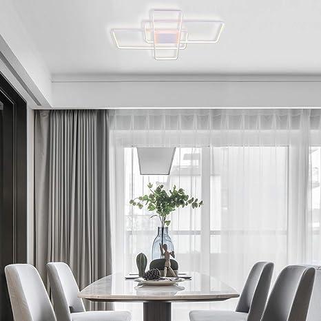 Modern Ceiling Light Chying White Dimmable Chandelier Led Flush Mount Geometric Light Fixture 70w Pvc Metal Ceiling Lighting For Bedroom Living Room