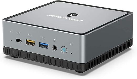 TALLA UM250-16GB/256GB. Mini PC AMD Ryzen 5 Pro 2500U | 16 GB RAM 256 GB M.2 SSD | Radeon Vega 8 Graphics | Windows 10 Pro | Intel WiFi AX200 BT 5.1 | 4K HDMI 2.0 Display USB-C | 2X RJ45 | 4X USB 3.1| Pequeño Formato