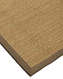 Cheap NaturalAreaRugs Maritime Collection Seagrass Area Rug, Handmade, 100% Seagrass, Non-Slip Latex Backing, Durable, Stain Resistant, Eco/Environment-Friendly, (9 Feet x 12 Feet) Taupe Border