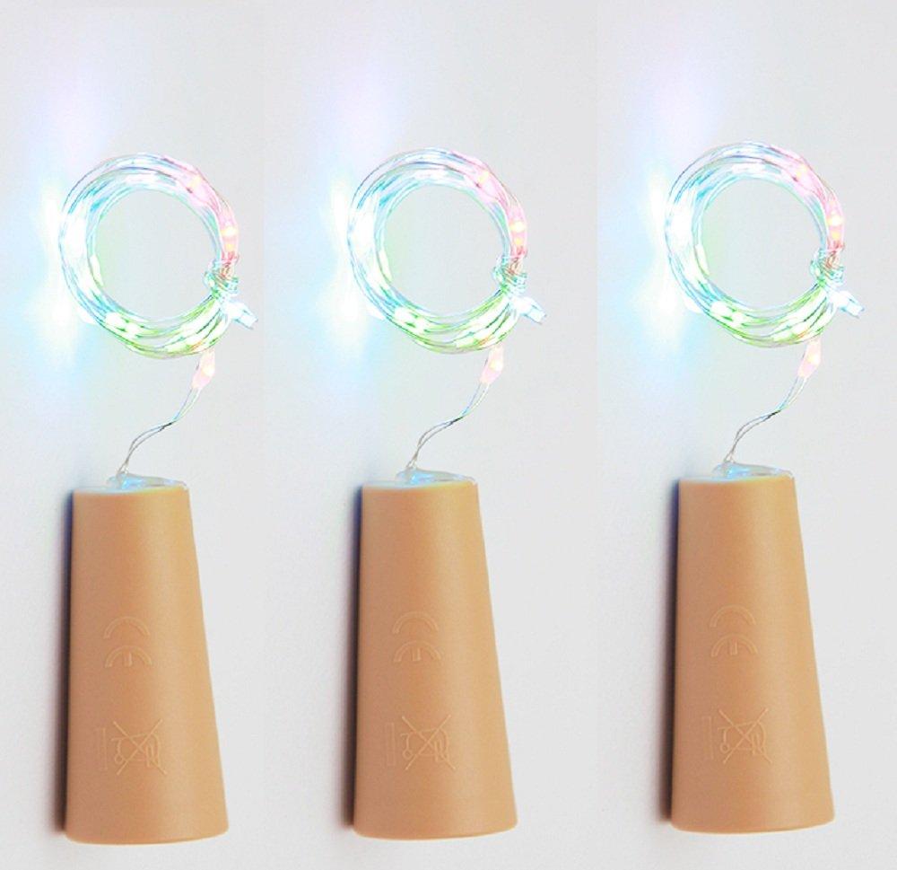 75cm Corcho Micro Luces LED para Botella de Vino,GZQES,Luz de la Secuencia del Alambre de Cobre del Corcho,Lámpara DIY Boda de Navidad Bar Deco Regalo o de ...