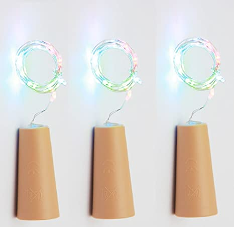 75cm Corcho Micro Luces LED para Botella de Vino,GZQES,Luz de la Secuencia