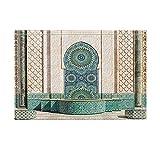 KOTOM NYMB Gothic Arabian Decor, Grand Mosque of Hassan Morocco Vintage Artwork Bath Rugs, Non-Slip Doormat Floor Entryways Indoor Front Door Mat, Kids Bath Mat, 15.7x23.6in, Bathroom Accessories