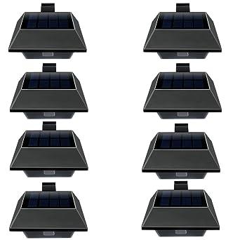 DE Solarlampe 12LEDs Dachrinnen Außenlampe Leuchte Wandlampe Wege Beleuchtung