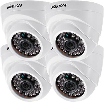 Opinión sobre KKmoon 4 * 1080P 2000TVL AHD Domo IR CCTV Cámara + 4 * 60 ft Monitoreo Cable Soporte Infrarrojos Night Vision 24pcs lámparas Infrarrojos 1/2,9 Pulgadas CMOS para la Seguridad en casa