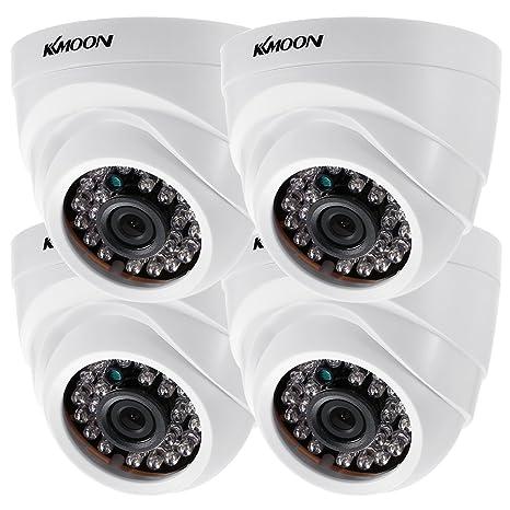 KKmoon 4 * 1080P 2000TVL AHD Domo IR CCTV Cámara + 4 * 60 ft Monitoreo