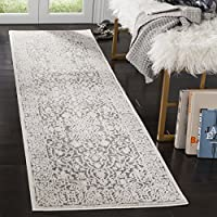 Safavieh Reflection Collection RFT670C Light Grey and Cream Runner (23 x 8)