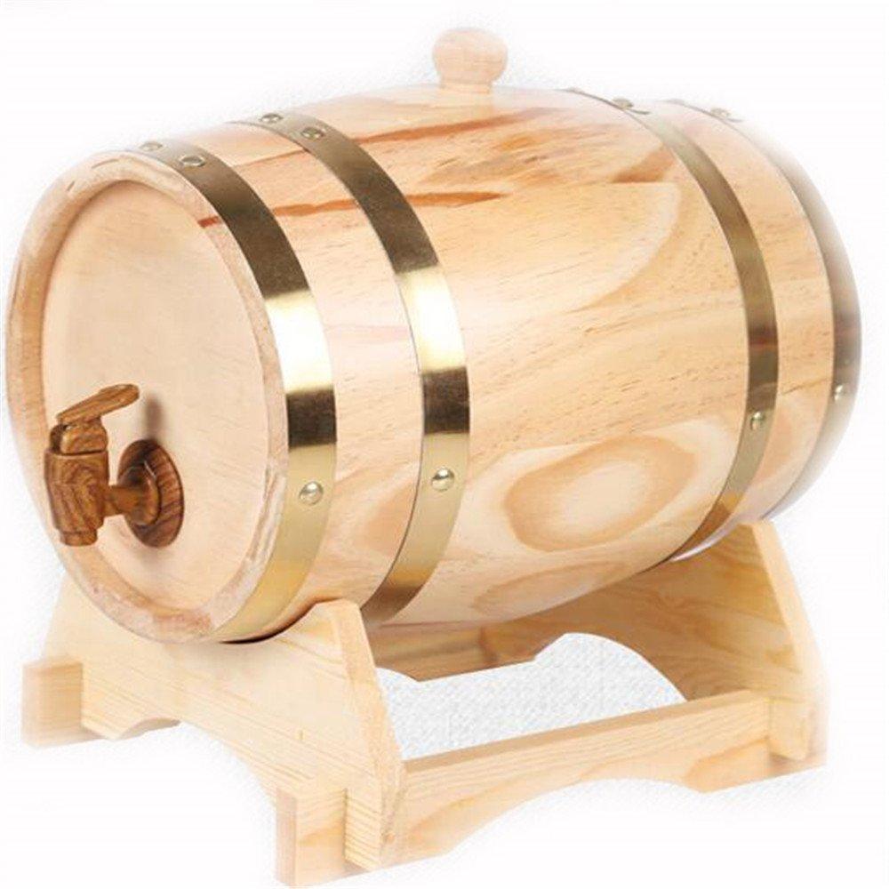 1.5L Legno di rovere Botti di vino Whisky Beer Spirits Storage Bar Accessori oro rubinetto xiangshang