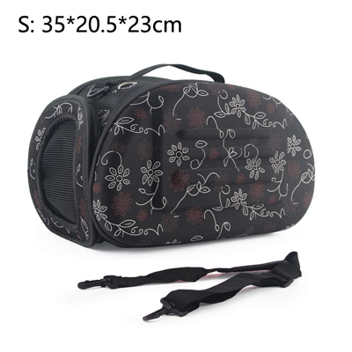 s 35x20.5x23cm print Come PicturePETFDH Dog Carrier Bag Portable Cats Handbag Foldegable Travel Bag Puppy Carring Mesh Shoulder Pet Bag s S /L Pink 45x32x38cm