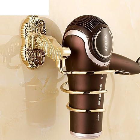 rack secador de pelo montado en la pared/ estantes del cuarto de baño de estilo