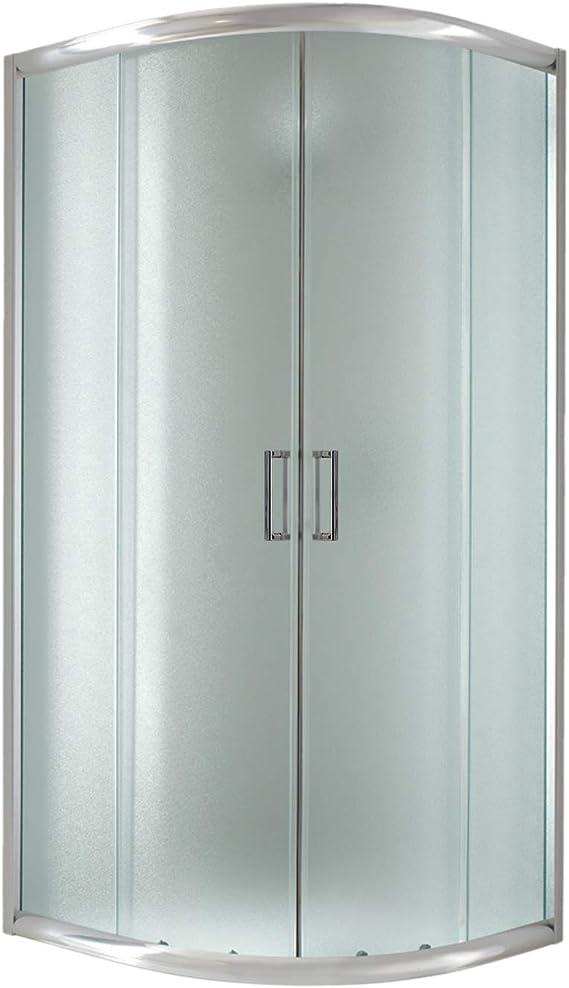 Cabina de ducha semicircular, 90 x 90 x 198 cm, impresa en C, 6 mm: Amazon.es: Bricolaje y herramientas