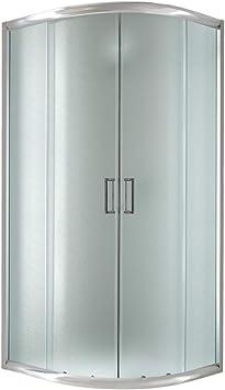 Cabina de ducha semicircular 90 x 90 x 198 cm, cristal estampado ...