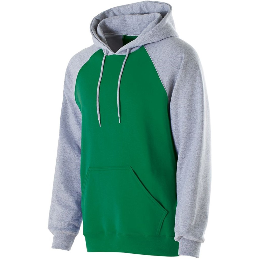 Holloway Youth Banner Hoodie (Medium, Kelly/Athletic Heather) by Holloway