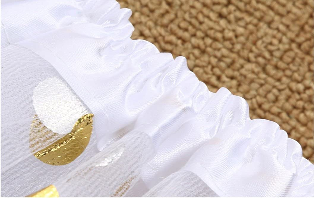 Gold Polka Dot Tutu Skirt in Fuschia from Chunks of Charm