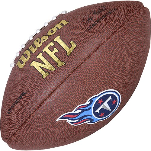 Wilson Nfl Game Logo Football (Tennessee Titans Logo Official Football)