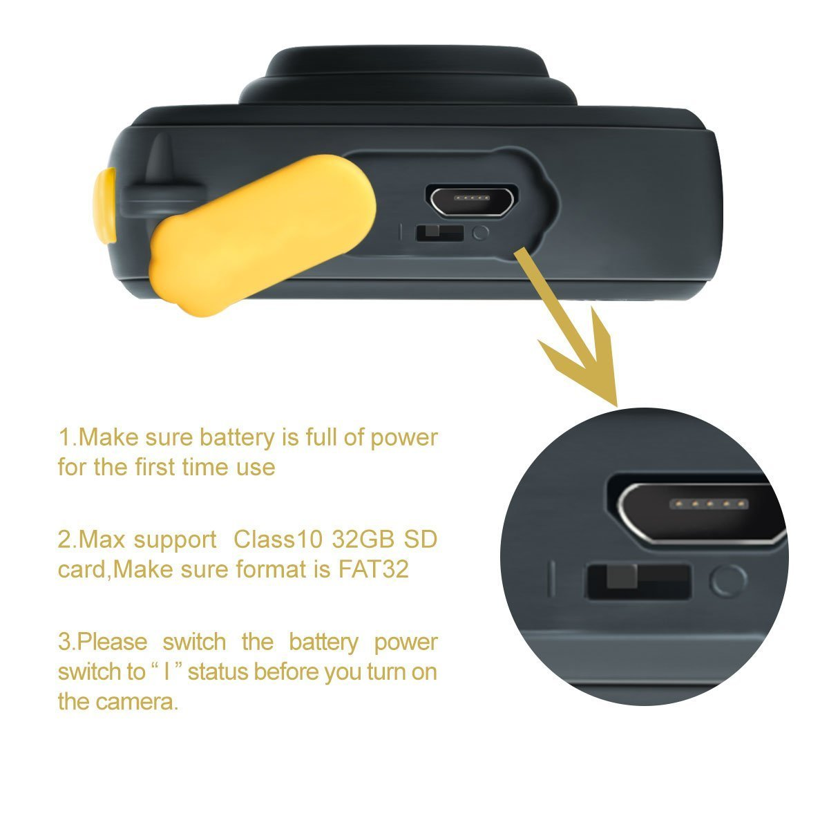 Cikuso Camara de accion HD Video Digital Impermeable para ninos 720 P Deportes 1.77 Pulgadas Camara de Pantalla LCD Videocamara DV para ninos Ninas Regalo ...