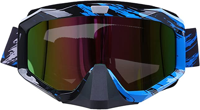 Possbay Motorradbrillen Cool Outdoor Wintersport Skifahren Anti Uv Schutzbrille Winddicht Staubdicht Motorrad Motocross Scooter Radfahren Skifahren Off Road Brille Auto