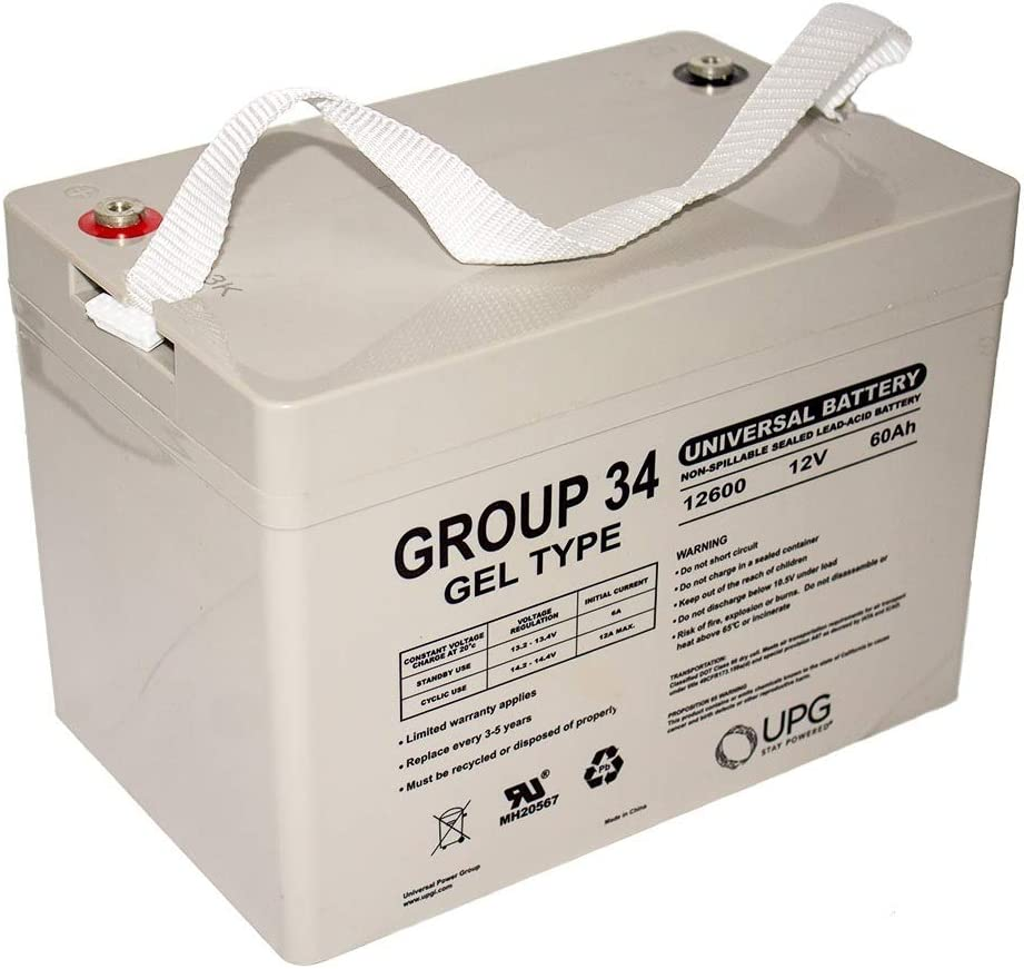 12V 60AH Group 34 Replacement Battery For Remote Monitoring Systems