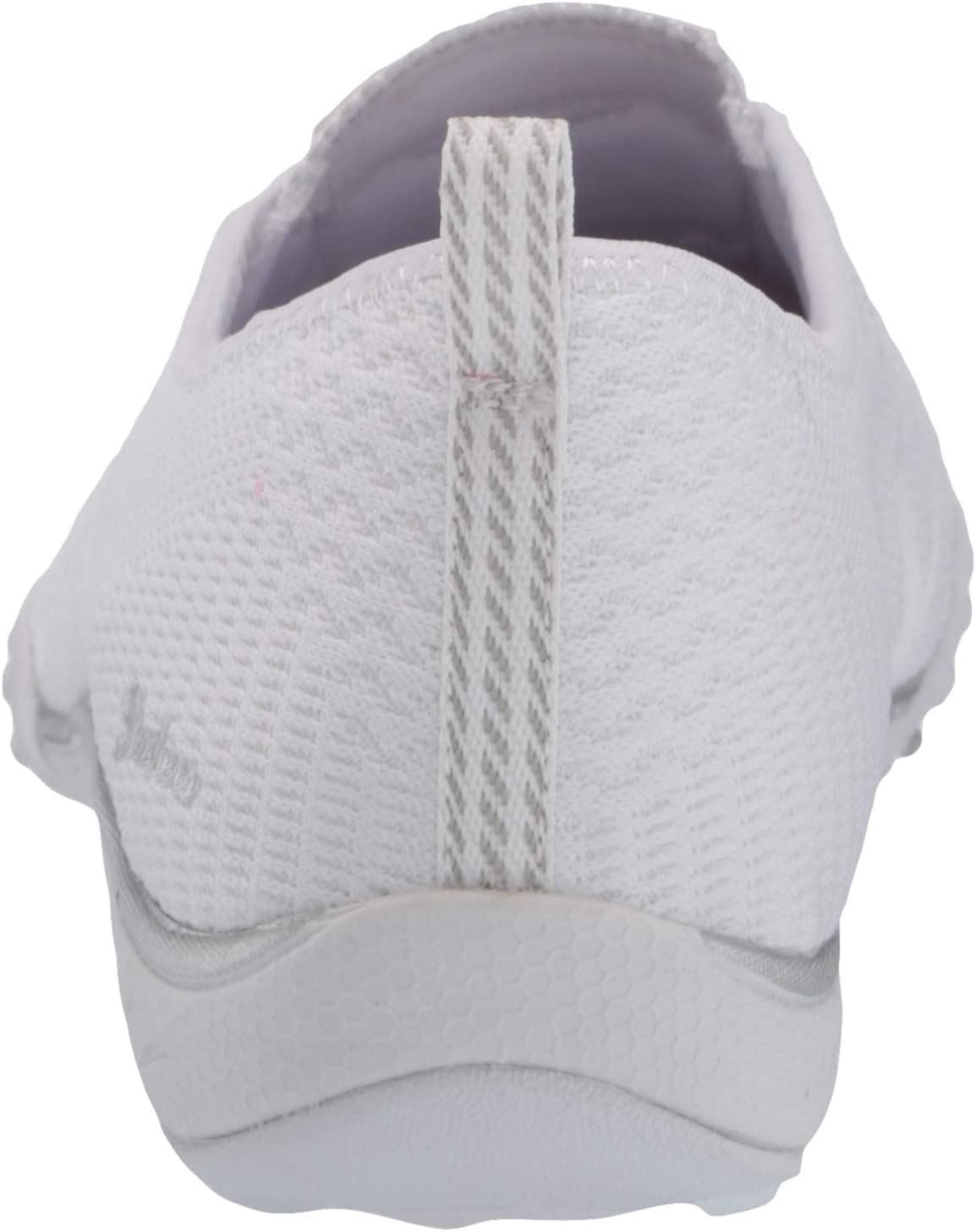 Skechers BREATHE-EASY - A-LOOK voor dames Trainers Wit Wit Zilver Wsl