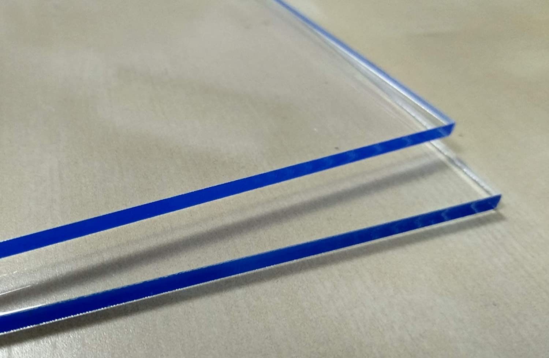 Hoja de metacrilato transparente 5mm A4 DINA4 (210 x 297 mm) - Varios tamaños A1 A2 A3 A4 A5 - Placa Acrilico transparente - Plancha Metacrilato traslucido - Lamina plástico - PMMA