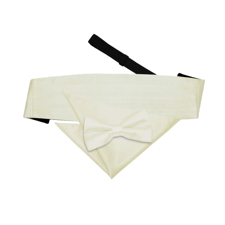 Uomo Cravatta a Farfalla Papillon Smoking Tuxedo Cintura Taschino Pochette Set