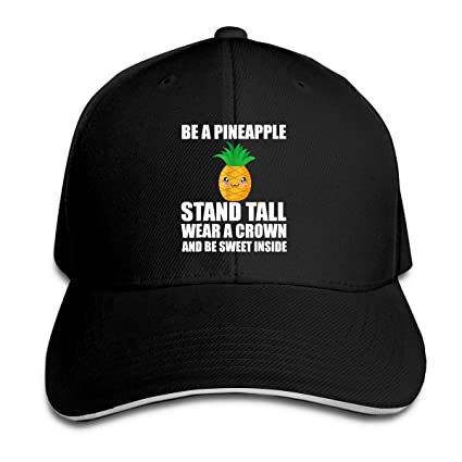 Amazon.com   Fashion Unisex Be A Pineapple Stand Tall Wear A Crown ... 268bf3f1f23