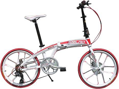 ANJING Bicicleta Plegable de 20 Pulgadas para Adultos, Bike Ligera ...