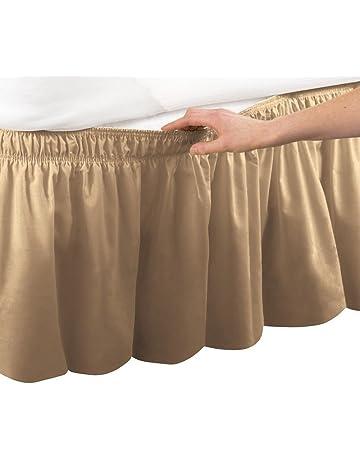 Cama falda con volantes cama elástica envuelve estilo volantes 18 cm Drop