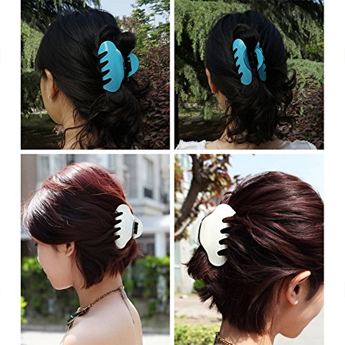 Topbeu Women Crystal Grip Jaw Clips Hair Clips For Medium Or Long Hair