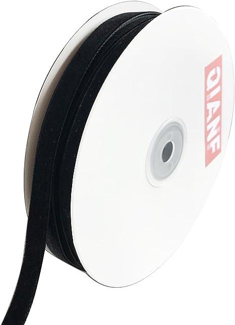 Black QIANF Velvet Ribbon 1 1//2-Inch by 25-Yard Spool