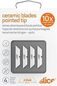 Slice 10408 Replacement Ceramic Blades with Pointed Tip for Slice Cutters, Stays Sharp up to 11x Longer Than Steel Blades