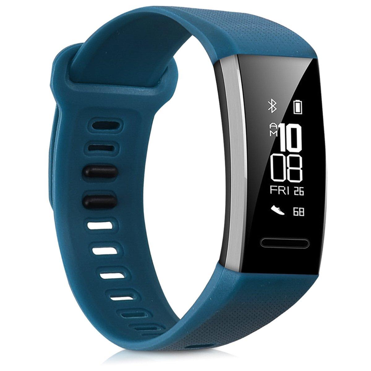 Set 2X Bracelet de Rechange en Silicone pour Fitness Tracker Huawei Band 2 Band 2 Pro kwmobile Bracelet Huawei Band 2 Band 2 Pro