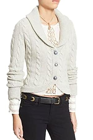 Free People Viceroy Cardigan (Ivory Heat, XS)