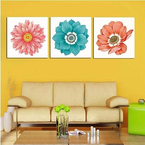 hermosos colores de pintura de la habitación Rjunjie Pintura De 3 Piezas Vida En El Hogar Decoracin De