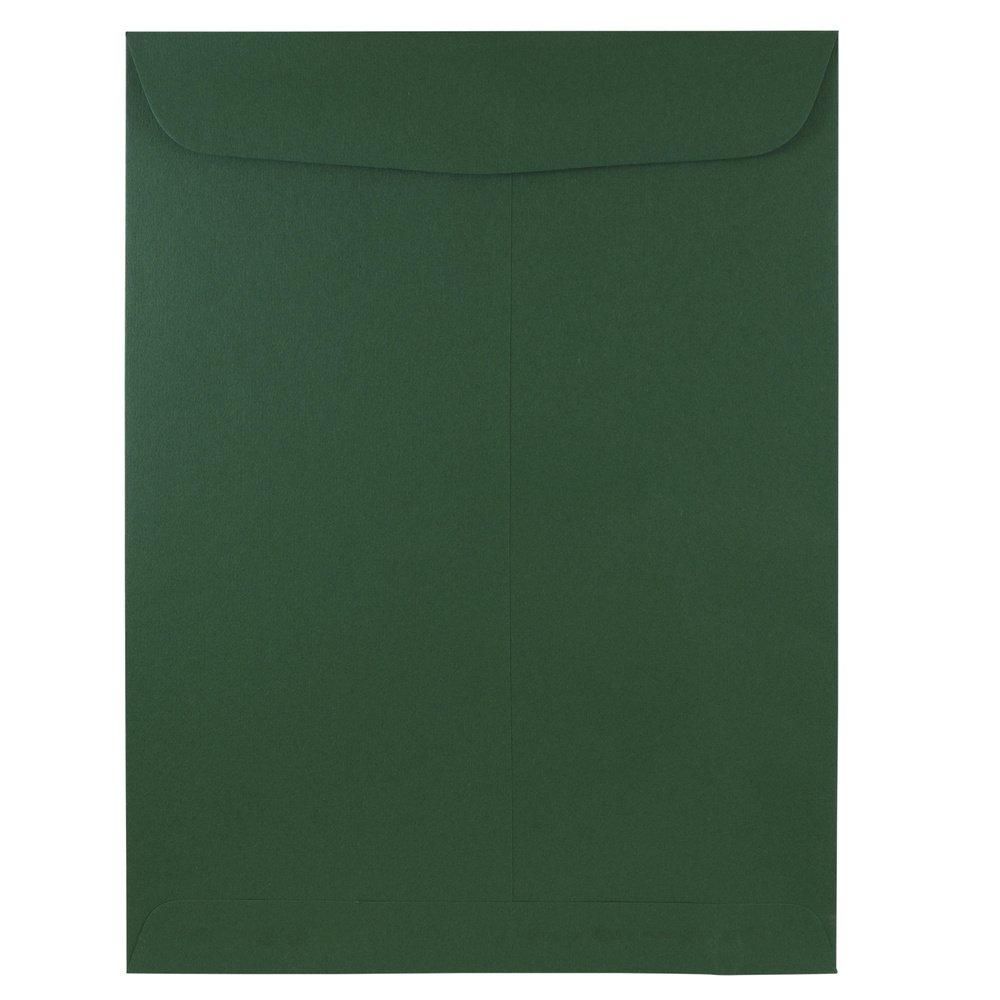 JAM Paper Open End Catalog Envelopes - 9'' x 12'' - Dark Green - 100/pack by JAM Paper (Image #1)