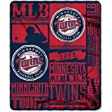 The Northwest Co MLB 031 Twins Strength Fleece Throw