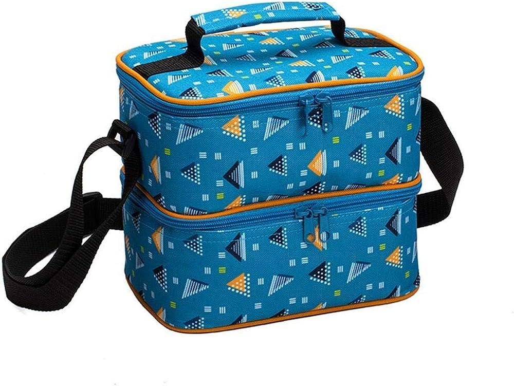 多機能バッグ2層ポータブル断熱バッグランチバッグアイスバッグアルミ箔断熱バッグ