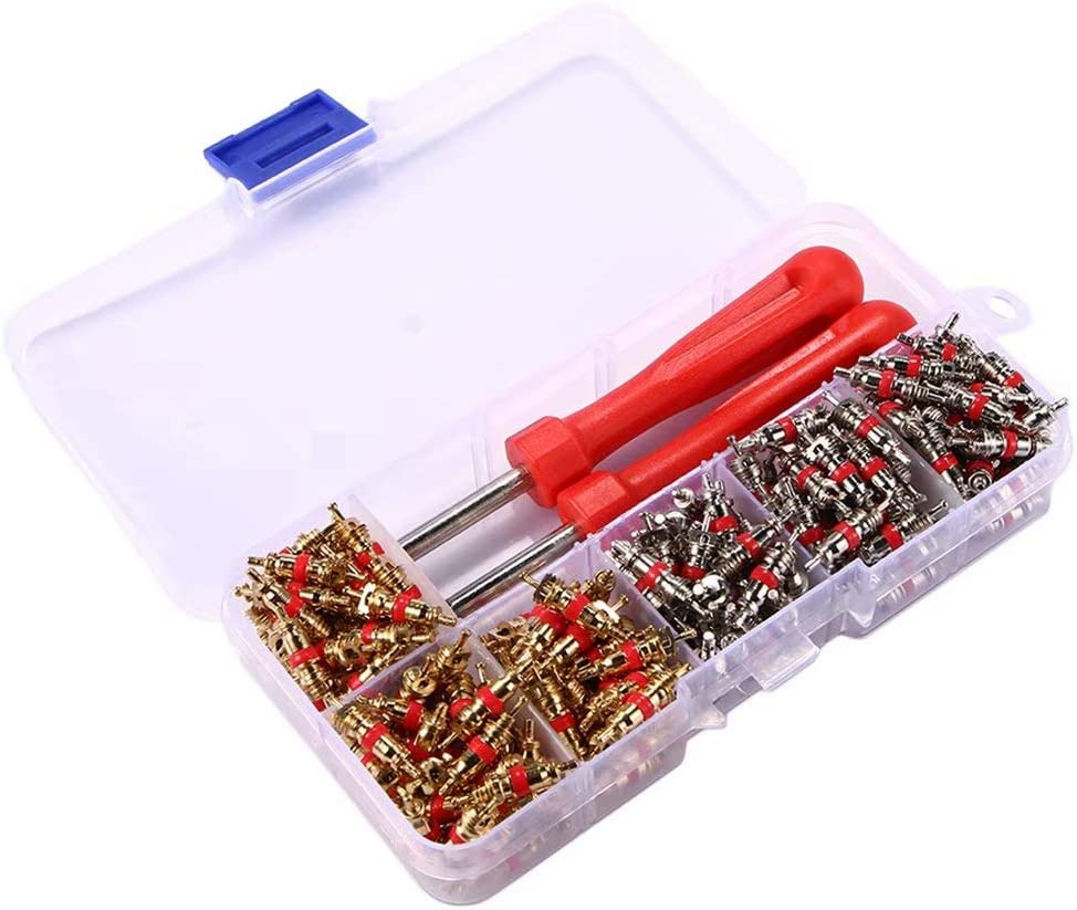 Remover Tool Kit For Car A//C Air Conditioning JahyShow 242pcs//set R134A Valve Cores